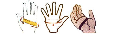 Размеры перчаток в магазине Алиэкспресс