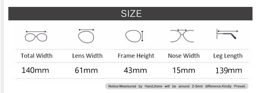 Размер очков Алиэкспресс