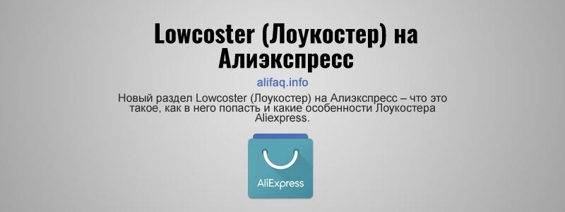 Lowcoster (Лоукостер) на Алиэкспресс